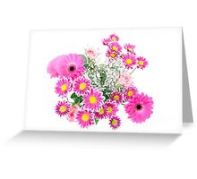 Bucket of Flowers Greeting Card