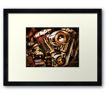 Harley Davidson Engine Framed Print