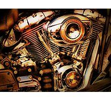 Harley Davidson Engine Photographic Print