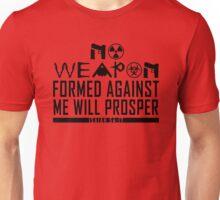 No Weapon Shall Prosper (Gritty Black) Unisex T-Shirt