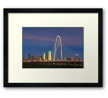 Dallas Skyline in the Evening 1 Framed Print