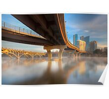 Misty Waters of Lady Bird Lake and Downtown Austin Poster
