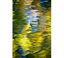 Harvest Gold Mosaic Abstract Art Photographic Print
