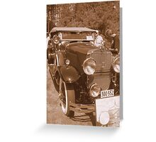 1929  Cadillac...from the glory Days... Greeting Card