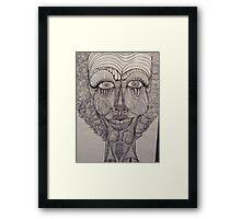 Curly Framed Print