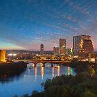 Austin Texas Skyline in the Evening 1 by RobGreebonPhoto