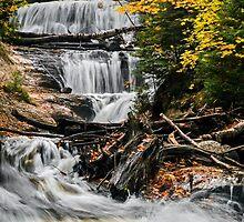 Sable Falls Cascade by Kenneth Keifer