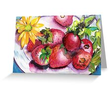 Strawberry Treat Greeting Card