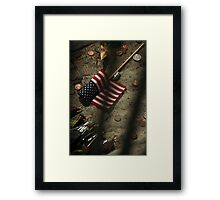 World Trade Center Five Years Later (now only shadows) Framed Print