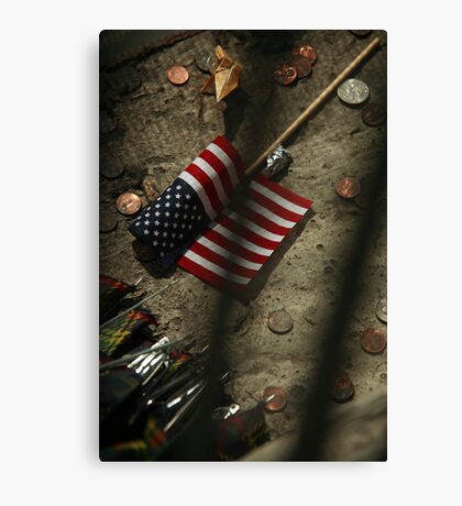 World Trade Center Five Years Later (now only shadows) Canvas Print