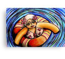 Floating Peach Canvas Print