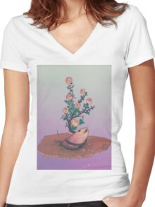 Premium natural 1  Women's Fitted V-Neck T-Shirt