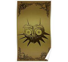 Majoras mask gold  Poster