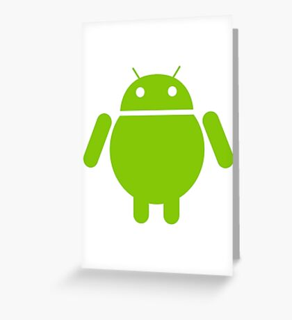 Fat Android Greeting Card