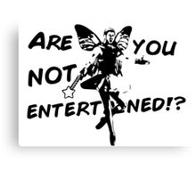 Fairy Gladiator - ARE YOU NOT ENTERTAINED!? - black AND white version Canvas Print