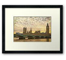 London, Westminster at sunset Framed Print