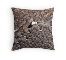 Feathered Eagle Throw Pillow