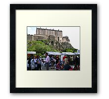 The Market Below The Castle Framed Print