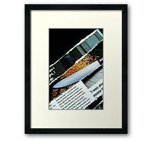 destructive read Framed Print