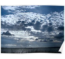 View from Hayling Island as the day ends Poster