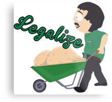 Legalize Marijuana, Randy Marsh South Park style Metal Print