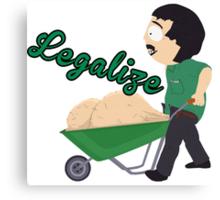 Legalize Marijuana, Randy Marsh South Park style Canvas Print