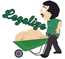 Legalize Marijuana, Randy Marsh South Park style Photographic Print