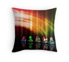 Super Mario Kart pixel art Throw Pillow