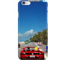 Outrun retro pixel art iPhone Case/Skin