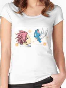 Natsu and Happy Women's Fitted Scoop T-Shirt