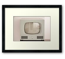 Old Television Framed Print