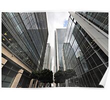 Canary Wharf Office Towers Poster