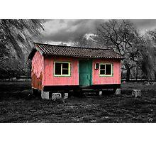 Pink Hut Photographic Print