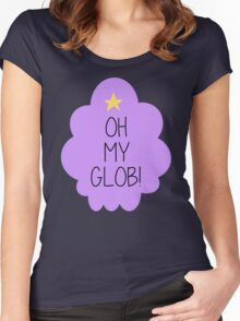 Lumpy Space Princess OH MY GLOB! Women's Fitted Scoop T-Shirt