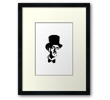 William Powell In Bowtie And Top Hat Framed Print