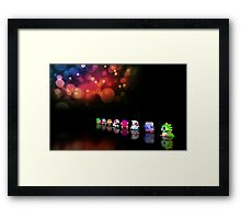 Bubble Bobble retro gaming pixel art Framed Print