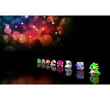 Bubble Bobble retro gaming pixel art Photographic Print