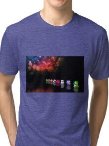 Bubble Bobble retro gaming pixel art Tri-blend T-Shirt