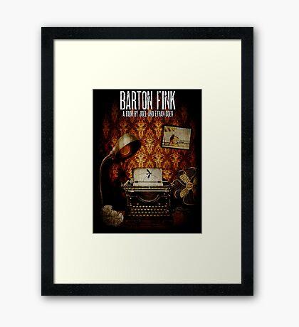 Coen Brothers Classic Film Barton Fink Framed Print
