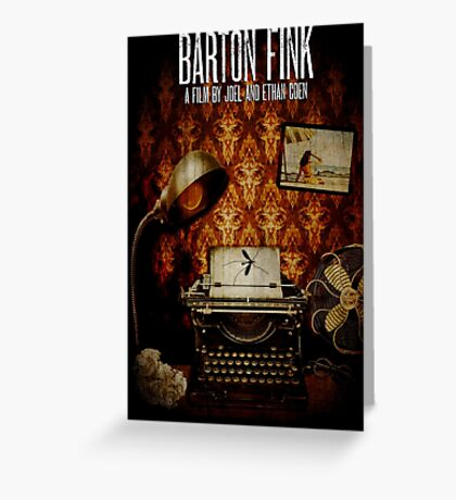 Coen Brothers Classic Film Barton Fink Greeting Card