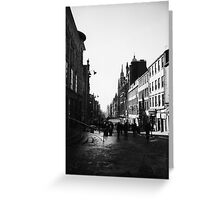 Early morning in Glasgow, Scotland Greeting Card