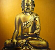 Golden Buddha by gary ross