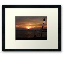 Sunset on the Shannon Framed Print