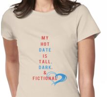 Tall, Dark and Fictional- Red, White & Blue Womens Fitted T-Shirt