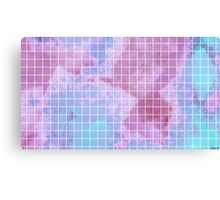Pastel Grid Canvas Print
