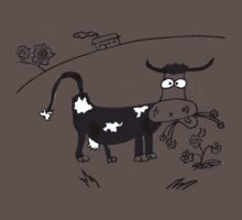Cow chewing the cud by Kady
