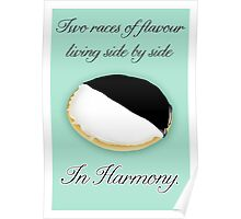 Black & White Cookie Knows Best Poster
