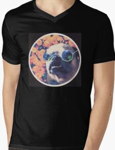 The Grooviest Pug on Earth Mens V-Neck T-Shirt