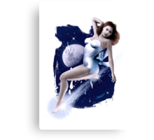 Monday's Child - Classic Pin Up Girl Canvas Print