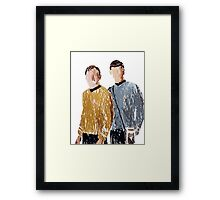 Scribbled spirk Framed Print
